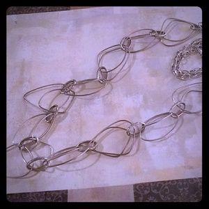 Silver Loop necklace - Premier Designs